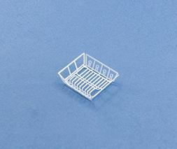 1:12 Scale Dollhouse Miniature White Kitchen Dish Drainer/Dr