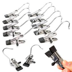 1/5Pcs Stainless Steel Clips Drying Pants Trousers Shoes Hoo