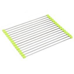 1 pc Sink Roll-up Dish Drying Rack Silicone Non-slip Heat Re