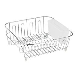 1 Piece Dish Drying Rack Small Compact Drainer Tray in Sink