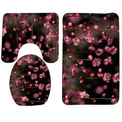 GVGs Shop 1 Set  Floral Flowers Soft Foam Shower Bath Mat To