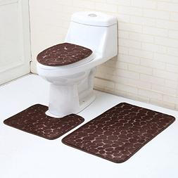 1 Set  Modern Flannel Carpet Bathroom Mat Toddler Non Slip T