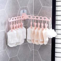 OTHERHOUSE 10 Clips Foldable Clothes <font><b>Rack</b></font
