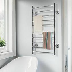 10 Heated Bars Hot Towel Warmer Electric Drying Rack Wall Mo
