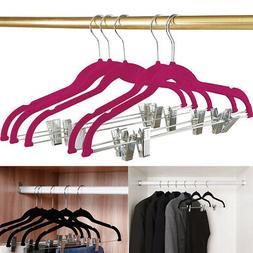 10 Pack Clothes Hangers Wardrobe Organizer Closet Drying Rac