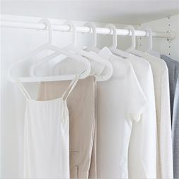 10pcs/lot Stainless Steel Clothes Hanger Non-Slip Space Savi