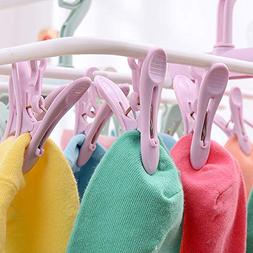 LtrottedJ 12 Clip Folding Drying Rack Underwear Socks Clip M