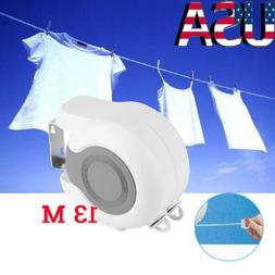 13m Retractable Double Clothesline Mount Indoor Outdoor Clot