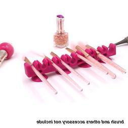 15 Holes Organiser Makeup Brush Holder Cosmetic Rack Desk Si