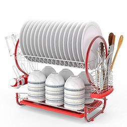 Anfan 2-Tier Dish Rack Stainless Steel Dish Drying Rack with