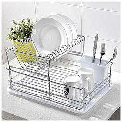 GLANZHAUS 3-Piece Stainless Steel Collapsible Kitchen Dish D