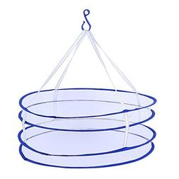 Daycount® 2 Layers Drying Rack Nets Folding Mesh Hanging Cl