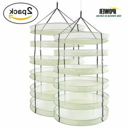 2-Pack iPower 3FT 6 Layer Hanging Dryer Rack Mesh Hydroponic