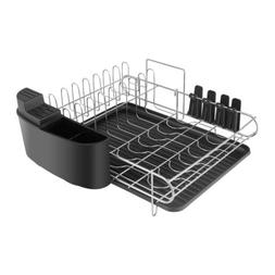 2 Tier Dish Drainer Drying Rack Drain Board Washing Organize