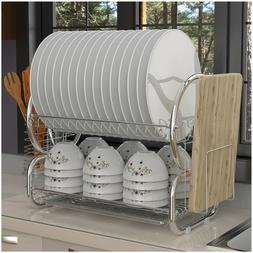2-Tier Dish Drying Rack Organizer Home Kitchen Collection Sh