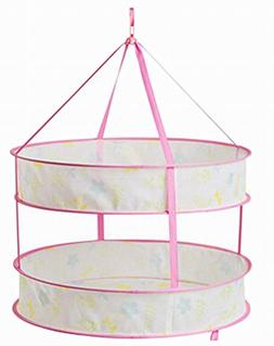2 Tier Clothes Drying Rack Net Hanging Drying Baskets for L