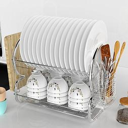 2-Tier Dish Drying Rack, stainless steel Kitchen Sinkware Di