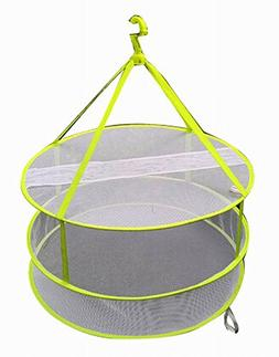 2 Tier Household Clothes Sweater Drying Rack/Net Hanging Dry