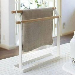 2 Tier Iron Towel Holder Standing Rack Kitchen Bathroom Coun