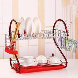 Cheesea 2 Tier Multifunctional Stainless Steel Dish Drying R