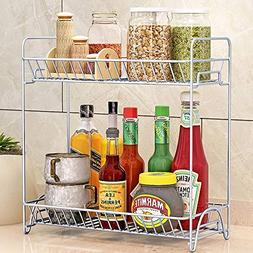 2 Tier Plate Dish Cutlery Cup Drainer Rack Drip Tray Plates