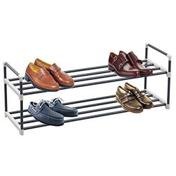 2-Tier shoe rack organizer storage bench stand for mens wome