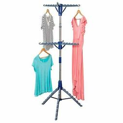 2-Tier Tripod Drying Rack Portable Clothes Garment Hanging D