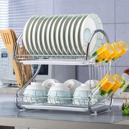 2 Tiers Dish <font><b>Drying</b></font> <font><b>Rack</b></f