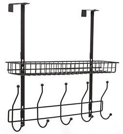 STORAGE MANIAC 2 Tiers Over the Door Hook Hanger Shelf Organ