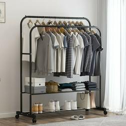 Mobile Closet Storage Organizer Garment Rack Clothes Hanger