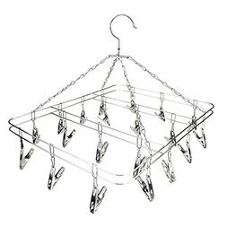 Socks Drying Rack Square Wire Grip Clip Airer Stainless Stee