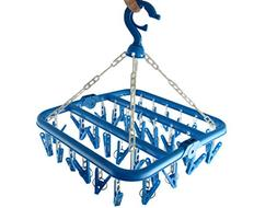 26 Clips Drip Hanger Clothes Drying Dryer Rack Sock Bra Unde