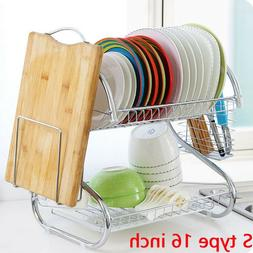 2Tier Stainless Steel <font><b>Kitchen</b></font> Dish Cup <