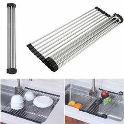 Over-the-Sink Dish Drying Dryer Drainer Rack Stainless Steel