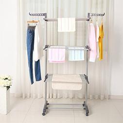GOGOUP Clothes Drying Rack, Portable Folding Laundry Garment