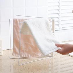 Adealink 2 Pcs 3 Layers Towel Stand Rack Folding Iron Bathro