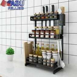 3 Tier Black Home Kitchen Dish Rack Drying Dish Organizer St