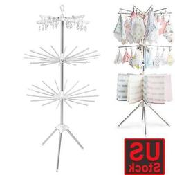 3-Tier Collapsible Folding Clothes Drying Rack Hanger Hangin