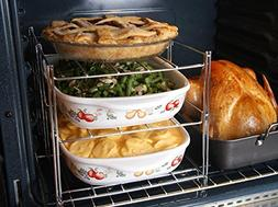 KOVOT 3-Tier Collapsible Rack | Space Saving Oven Rack For M