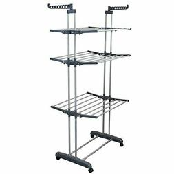 BonBon 3 Tier Clothes Drying Rack Folding Laundry Dryer Hang