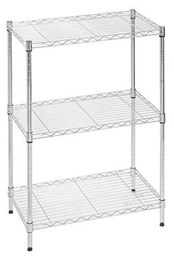 STORAGE MANIAC 3-Tier Wire Shelving Unit, Heavy Duty Adjusta