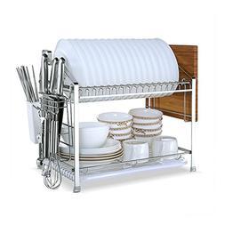 YOMYM 304 Stainless Steel 2 tier Kitchen Organizer and Stora