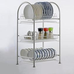 304 stainless steel dish rack double-layer three-layer dish
