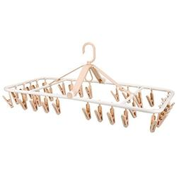 Rziioo 32 Clips Can Folding Hanger Windproof Clip Thick Plas