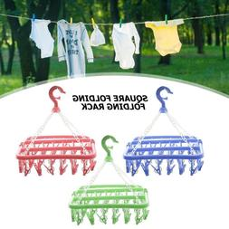 32 Clips Portable Socks Cloth Hanger <font><b>Rack</b></font
