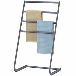 32 Inch Freestanding Metal Towel Rack, 4 Tier Laundry Drying