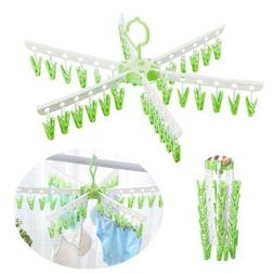 36 Clips Clothes Drying Rack Socks Towels Panties Bra Underw