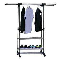 3Tier Stainless Laundry Clothe Storage Drying Rack Portable
