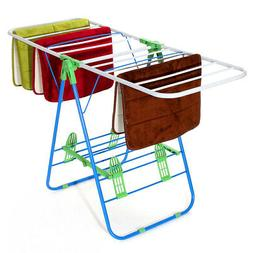 4' 2 Tier Metal Folding Clothes Drying Rack Laundry Towel Ai