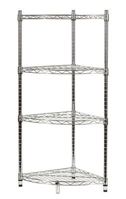 STORAGE MANIAC 4-Tier Corner Storage Rack Shelf Adjustable B